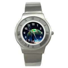 Planets In Space Stars Stainless Steel Watch