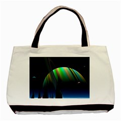 Planets In Space Stars Basic Tote Bag