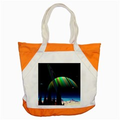 Planets In Space Stars Accent Tote Bag