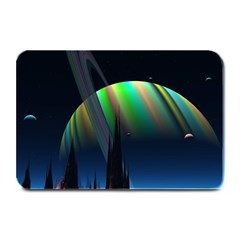 Planets In Space Stars Plate Mats