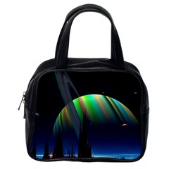 Planets In Space Stars Classic Handbags (One Side)