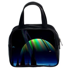 Planets In Space Stars Classic Handbags (2 Sides)