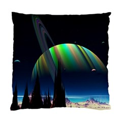 Planets In Space Stars Standard Cushion Case (two Sides)