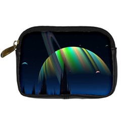 Planets In Space Stars Digital Camera Cases