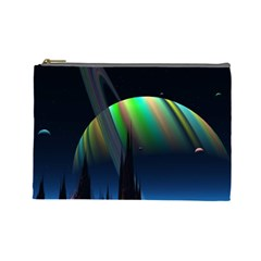 Planets In Space Stars Cosmetic Bag (Large)