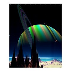 Planets In Space Stars Shower Curtain 60  X 72  (medium)