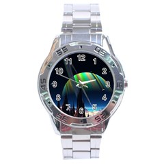 Planets In Space Stars Stainless Steel Analogue Watch