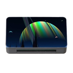 Planets In Space Stars Memory Card Reader With Cf