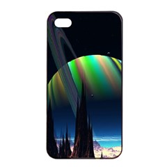 Planets In Space Stars Apple Iphone 4/4s Seamless Case (black)