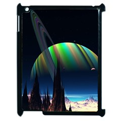 Planets In Space Stars Apple Ipad 2 Case (black)