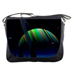 Planets In Space Stars Messenger Bags