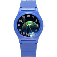 Planets In Space Stars Round Plastic Sport Watch (s)