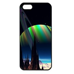 Planets In Space Stars Apple Iphone 5 Seamless Case (black)