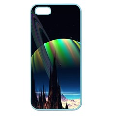 Planets In Space Stars Apple Seamless Iphone 5 Case (color)