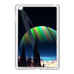 Planets In Space Stars Apple Ipad Mini Case (white)