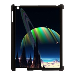 Planets In Space Stars Apple Ipad 3/4 Case (black)