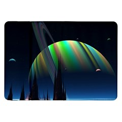 Planets In Space Stars Samsung Galaxy Tab 8 9  P7300 Flip Case