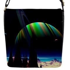 Planets In Space Stars Flap Messenger Bag (s)