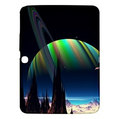 Planets In Space Stars Samsung Galaxy Tab 3 (10 1 ) P5200 Hardshell Case