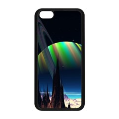 Planets In Space Stars Apple Iphone 5c Seamless Case (black)