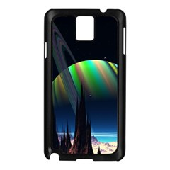 Planets In Space Stars Samsung Galaxy Note 3 N9005 Case (black)