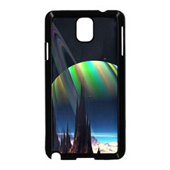 Planets In Space Stars Samsung Galaxy Note 3 Neo Hardshell Case (black)