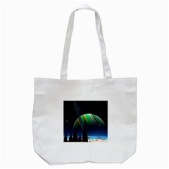 Planets In Space Stars Tote Bag (white)