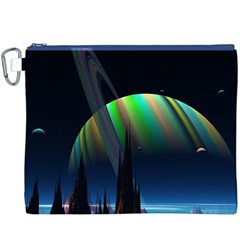 Planets In Space Stars Canvas Cosmetic Bag (xxxl)