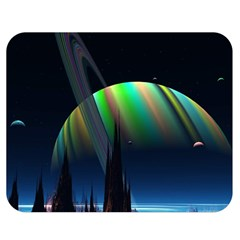 Planets In Space Stars Double Sided Flano Blanket (medium)