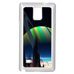 Planets In Space Stars Samsung Galaxy Note 4 Case (white)