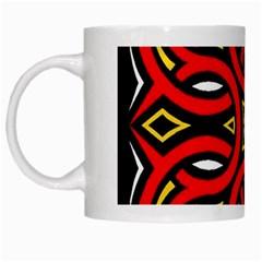 Traditional Art Pattern White Mugs