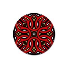 Traditional Art Pattern Rubber Coaster (round)