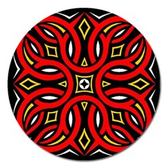 Traditional Art Pattern Magnet 5  (round)