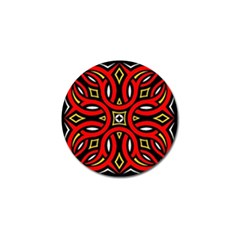 Traditional Art Pattern Golf Ball Marker (4 pack)
