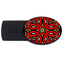 Traditional Art Pattern Usb Flash Drive Oval (4 Gb)