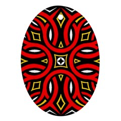 Traditional Art Pattern Oval Ornament (two Sides)