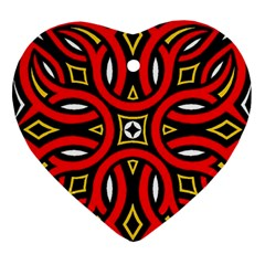 Traditional Art Pattern Heart Ornament (two Sides)