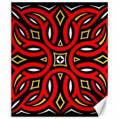 Traditional Art Pattern Canvas 8  X 10