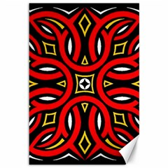 Traditional Art Pattern Canvas 12  X 18