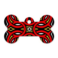 Traditional Art Pattern Dog Tag Bone (two Sides)