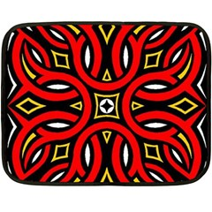 Traditional Art Pattern Double Sided Fleece Blanket (Mini)
