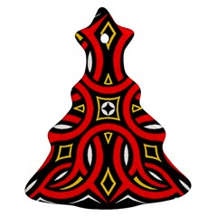 Traditional Art Pattern Christmas Tree Ornament (Two Sides)