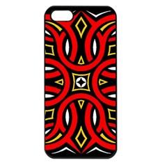 Traditional Art Pattern Apple Iphone 5 Seamless Case (black)