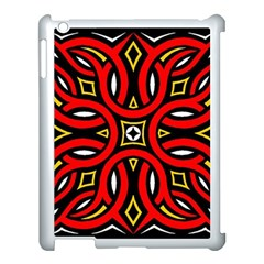 Traditional Art Pattern Apple iPad 3/4 Case (White)