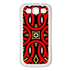 Traditional Art Pattern Samsung Galaxy S3 Back Case (White)