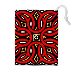 Traditional Art Pattern Drawstring Pouches (extra Large)
