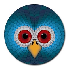 Bird Eyes Abstract Round Mousepads