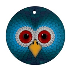 Bird Eyes Abstract Ornament (round)
