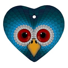 Bird Eyes Abstract Ornament (heart)