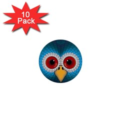 Bird Eyes Abstract 1  Mini Buttons (10 Pack)